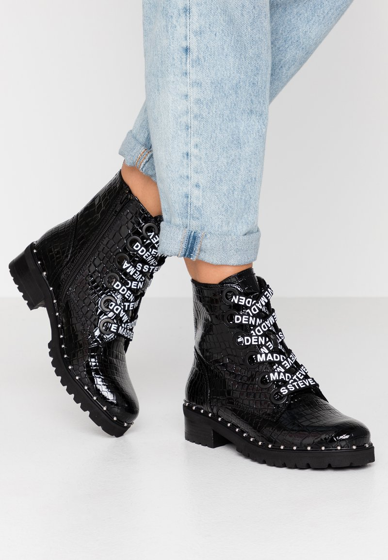 Steve Madden - TESS - Lace-up ankle boots - black
