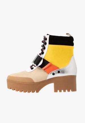 GRADY - Platform ankle boots - yellow/multicolor
