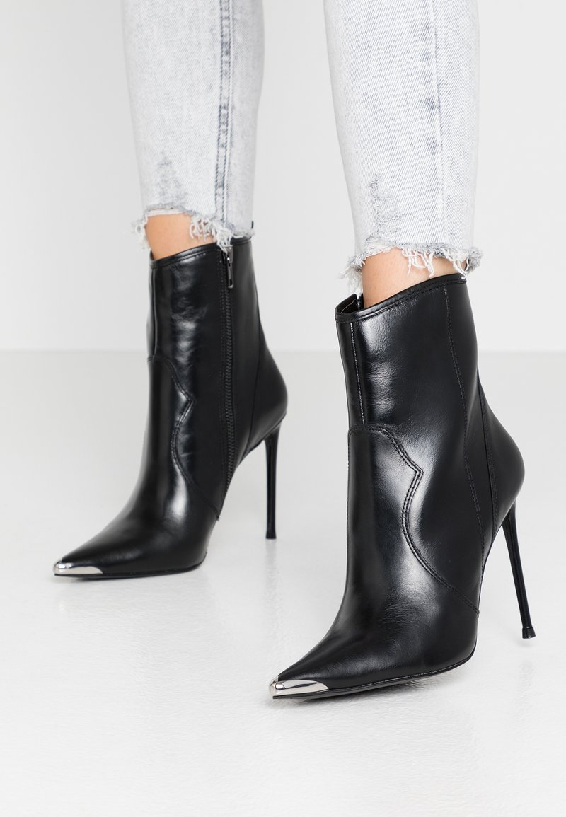 Steve Madden - TINA - High heeled ankle boots - black