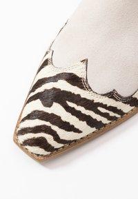 Steve Madden - PHILIPPA - Boots à talons - black/white - 2