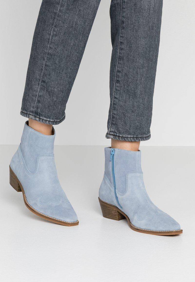 Steve Madden - PHILIPPA - Boots à talons - light blue