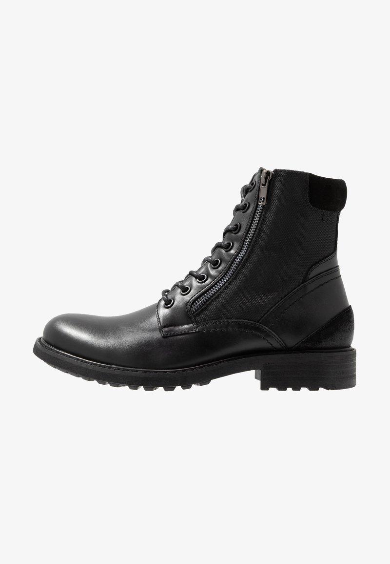 Steve Madden - SIDEBAR - Šněrovací kotníkové boty - black