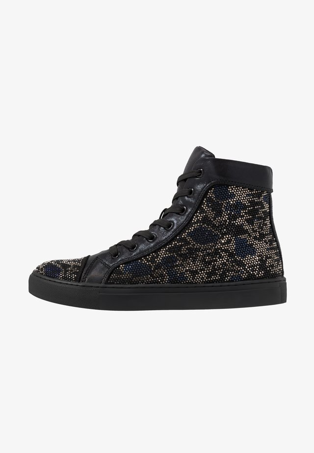 RIOT - High-top trainers - black/silver