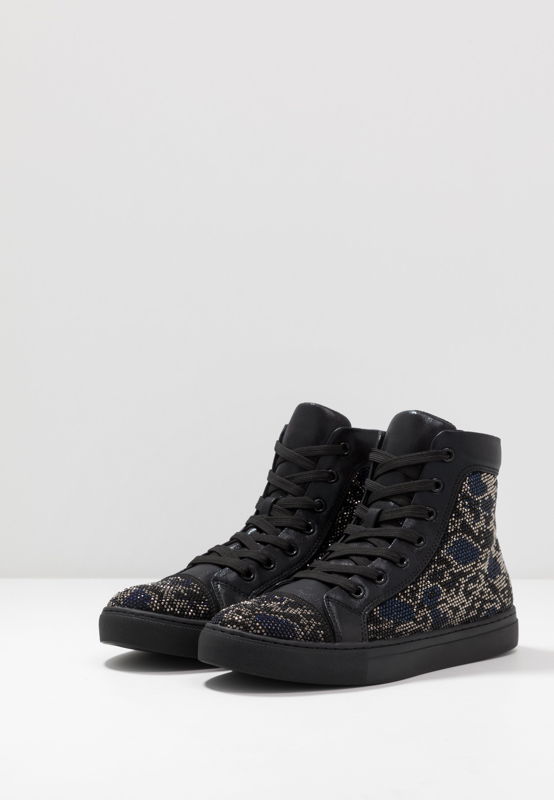 Steve Madden Riot - High-top Trainers Black/silver