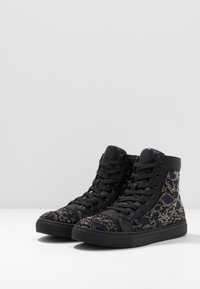 Steve Madden - RIOT - Sneakers high - black/silver - 2