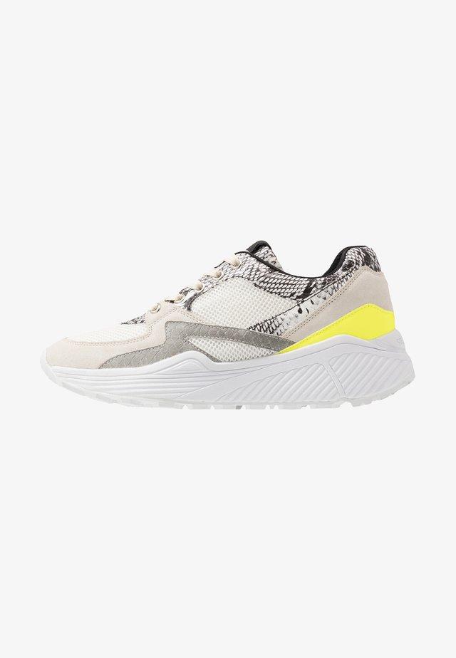 SAVOY - Sneaker low - beige/white/neon yellow