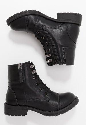JTENDER - Bottines à lacets - black