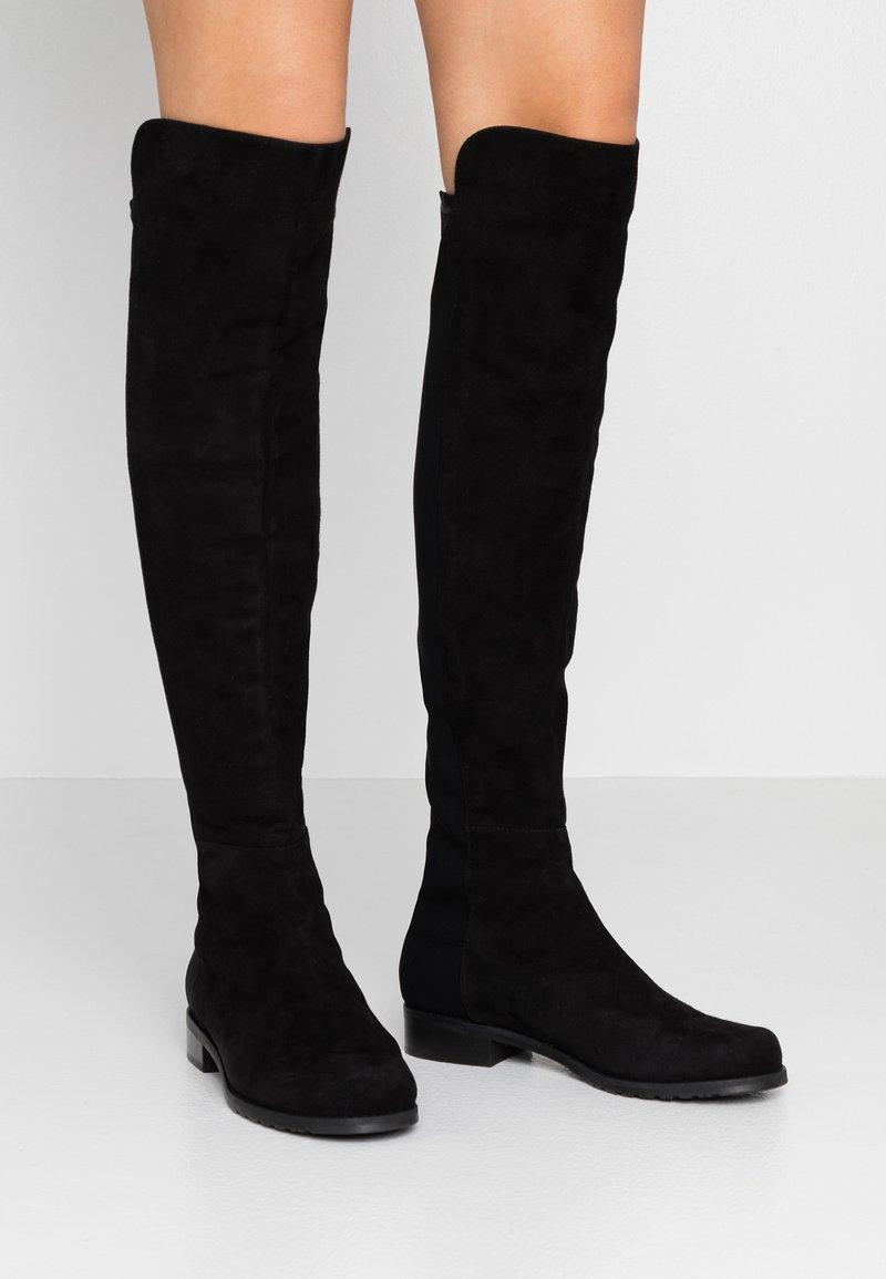 Stuart Weitzman - Kozačky nad kolena - black