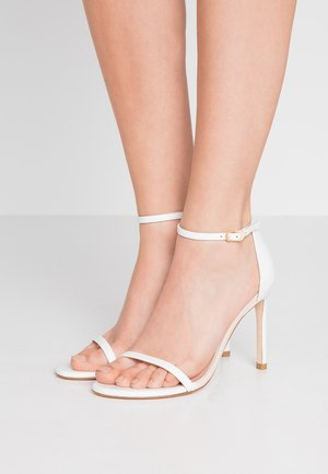 NUDISTSONG - High heeled sandals - white