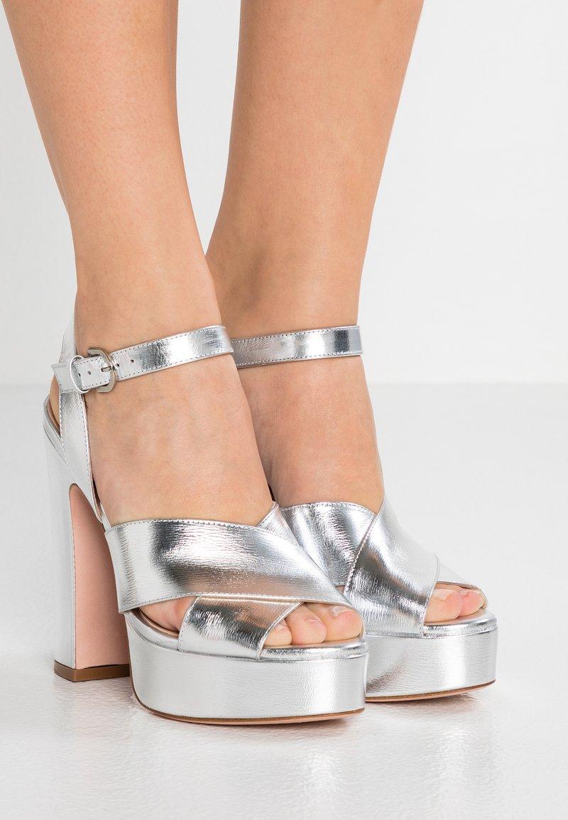 Stuart Weitzman - JONI - High heeled sandals - crackle metallic