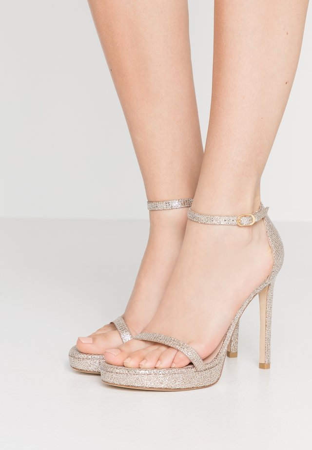 DISCO - High heeled sandals - platino