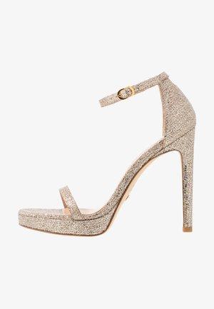 DISCO - High Heel Sandalette - platino