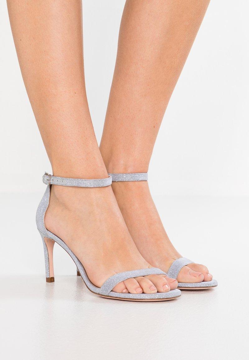 Stuart Weitzman - High Heel Sandalette - silver