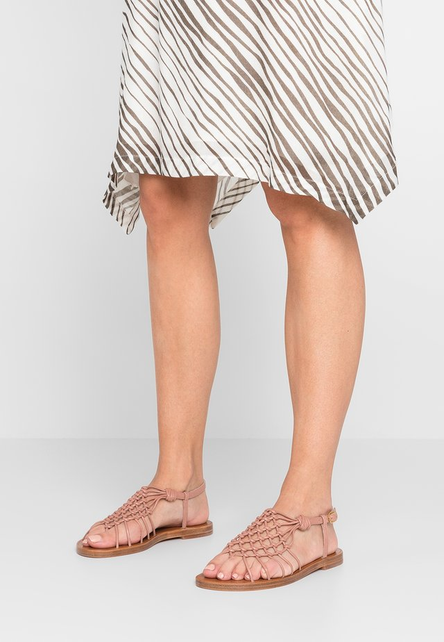 SEASIDE - T-bar sandals - toasted blush