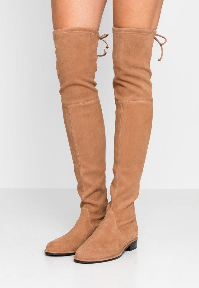 LOWLAND - Overknee laarzen - camel