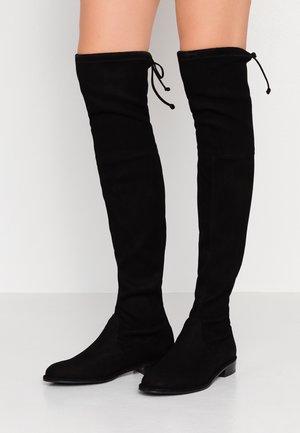 LOWLAND - Kozačky nad kolena - black