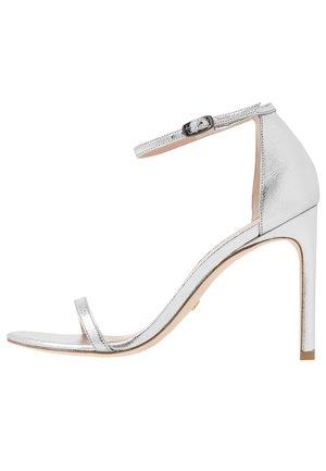 NUDISTSONG - Sandály na vysokém podpatku - silver