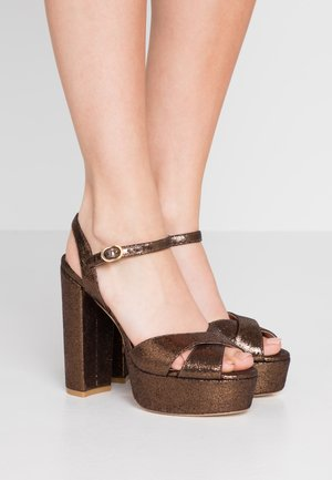 SOLIESSE - High heeled sandals - bronze
