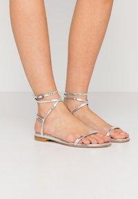 Stuart Weitzman - MERINDA FLAT - Sandals - silver - 0