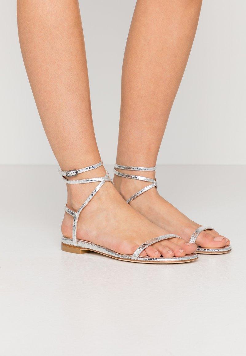 Stuart Weitzman - MERINDA FLAT - Sandals - silver
