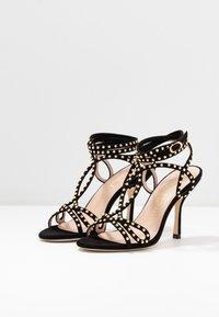 Stuart Weitzman - LEYA BEAD - High heeled sandals - black/gold - 4