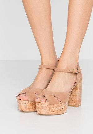 IVONA - High heeled sandals - tan/nature