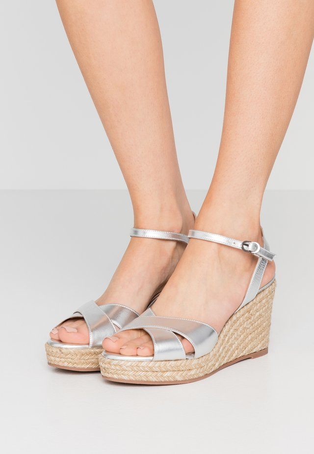 ROSEMARIE - High heeled sandals - silver