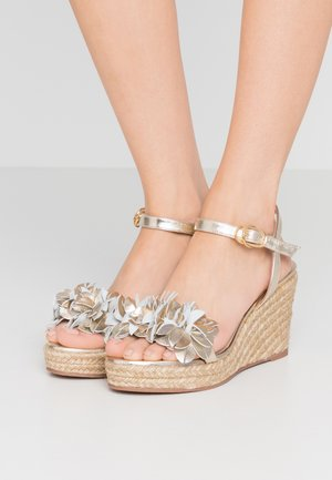 YUNA - High heeled sandals - platino