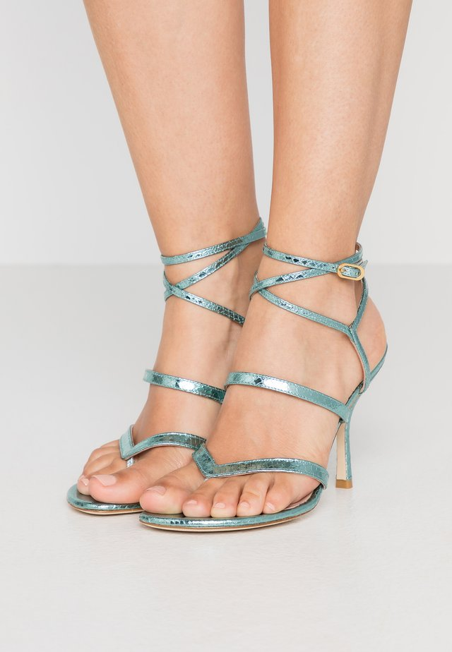 JULINA  - High heeled sandals - teal