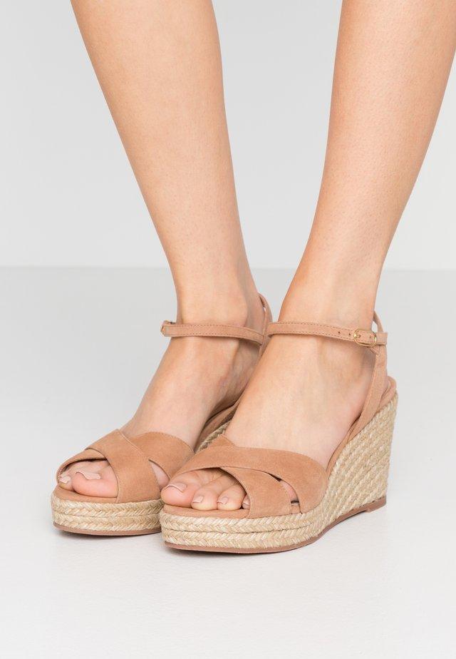 ROSEMARIE - Sandály na vysokém podpatku - tan