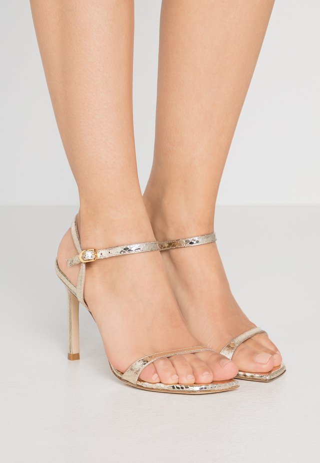ALONZA  - High heeled sandals - platino
