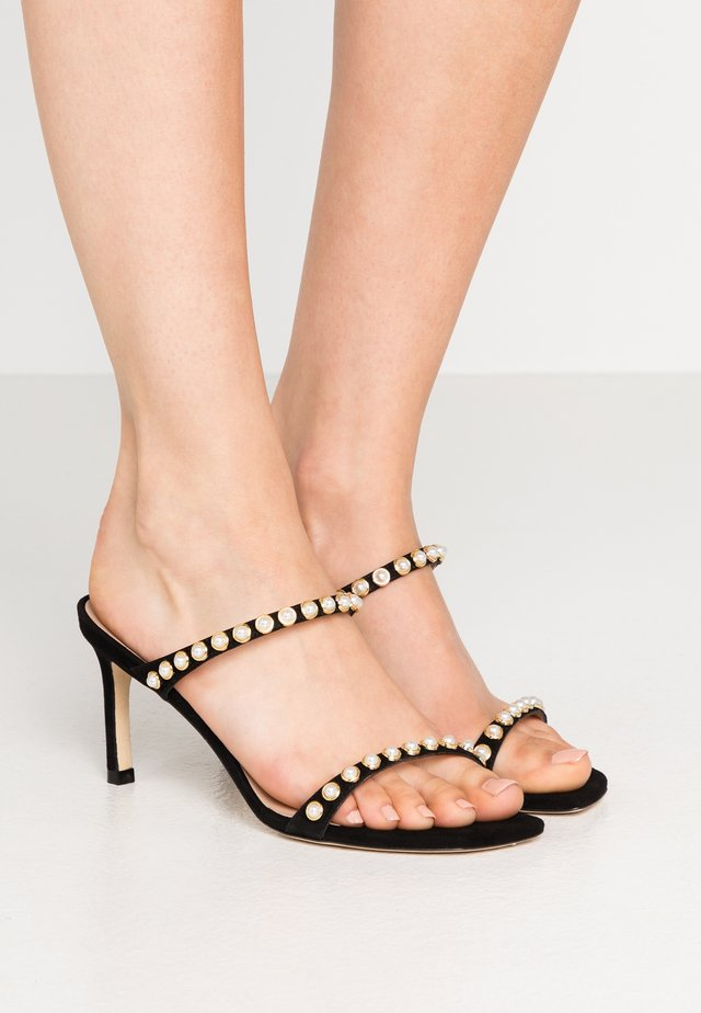 ALEENA PEARLS - Heeled mules - black
