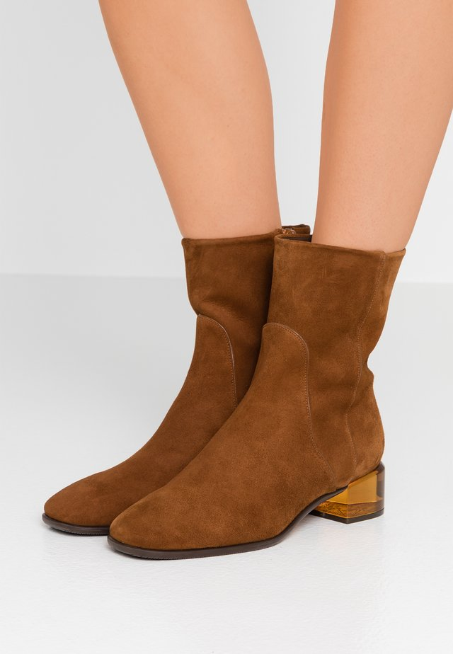 CLODETTE - Classic ankle boots - coffee