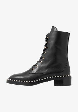 SONDRA - Bottines à lacets - black