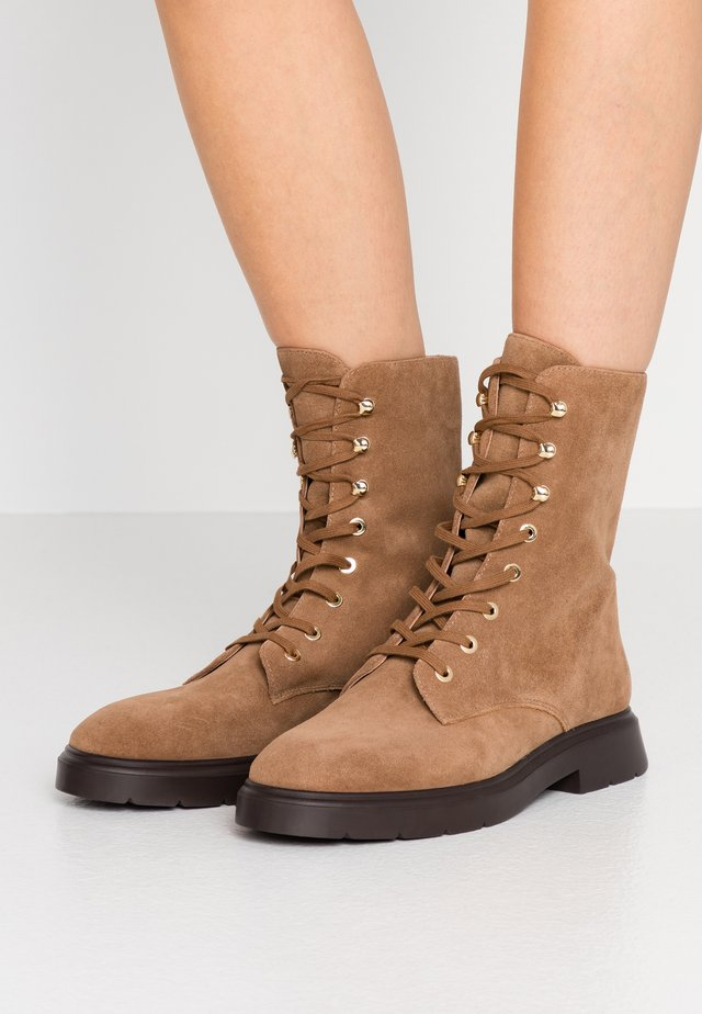 MCKENZEE - Lace-up ankle boots - coffee