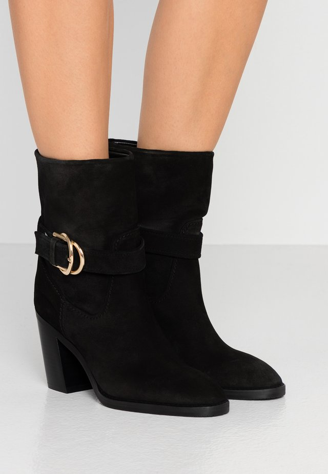 VIRGO - High heeled ankle boots - black