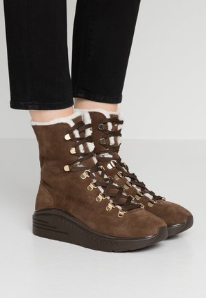 OCEANE - Lace-up ankle boots - coffee