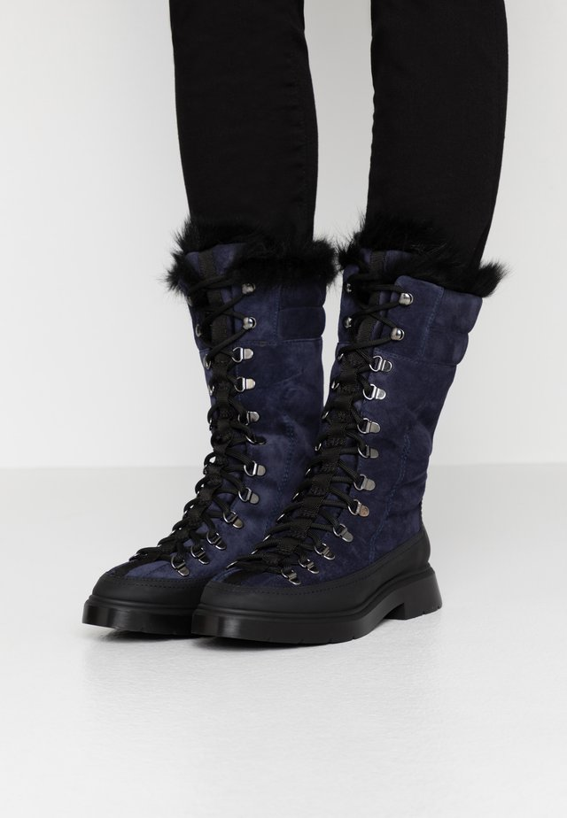 EXCLUSIVE JESSIE - Lace-up boots - nice blue