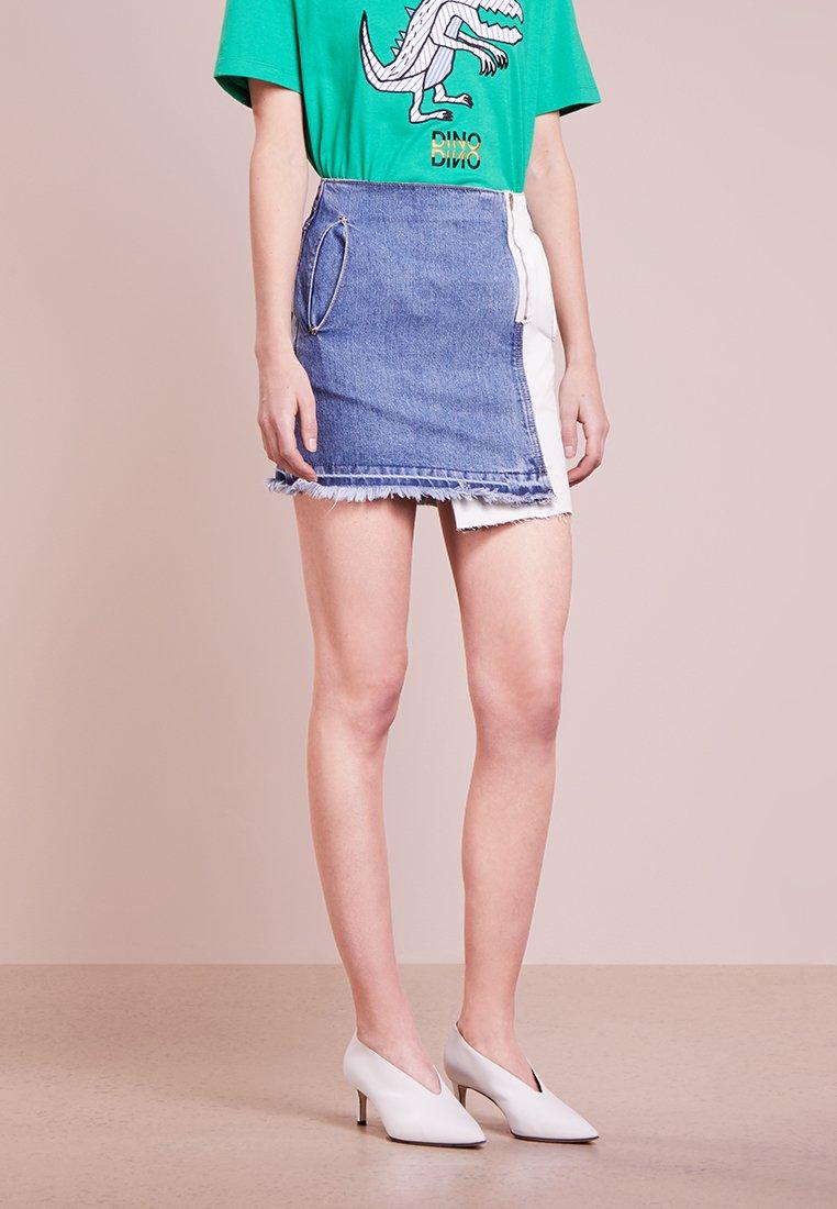 Steve J & Yoni P / SJYP - MULTI MINI - A-line skirt - blue