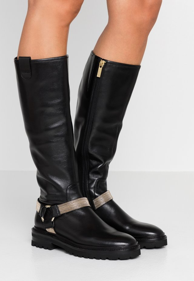 CHAIN ROAD - Plateaustiefel - black/gold