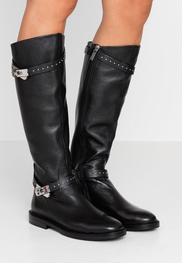 LOCK BOULEVARD - Stiefel - black/silver