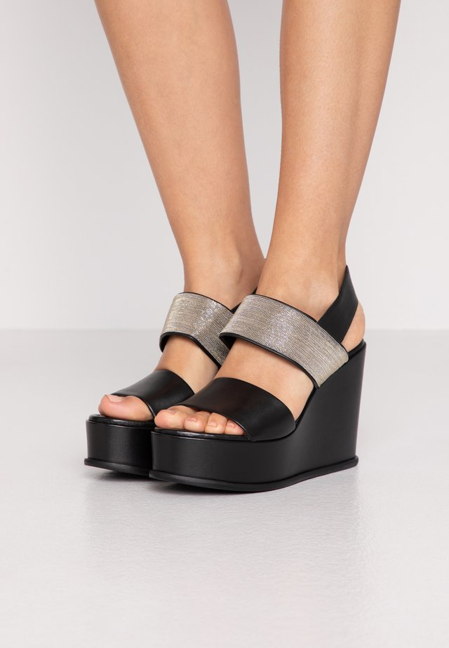 CHAIN STREET - Sandály na vysokém podpatku - black