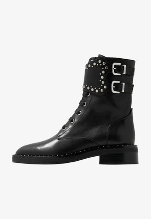 NEW FASHION STREET - Cowboystøvletter - black