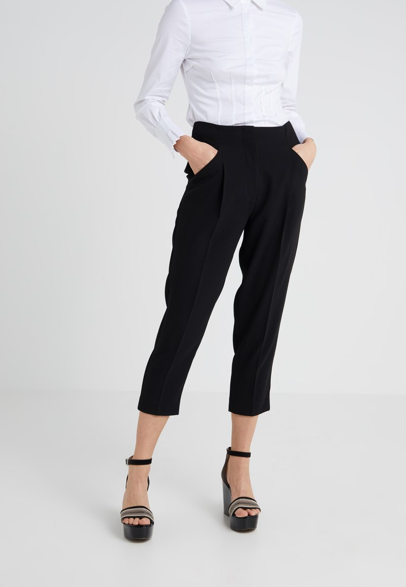 Steffen Schraut - THE EASY CHIC PANTS - Stoffhose - black