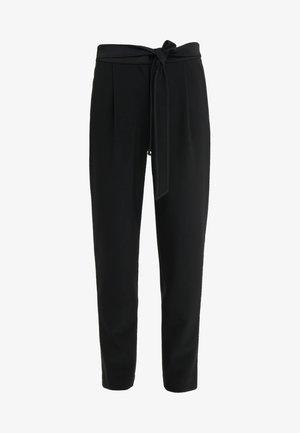 PRISCILLA MODERN PANTS - Tygbyxor - black