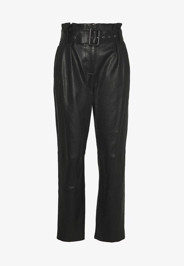 MANHATTAN LUXURY  PANTS - Lederhose - black