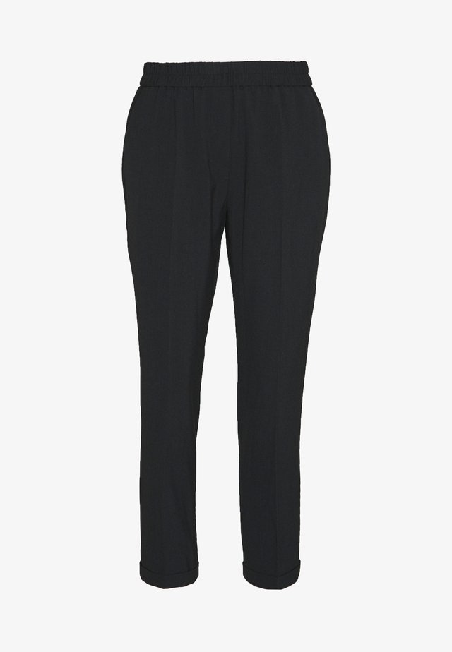 SAVIS LUXURY - Trousers - dark grey