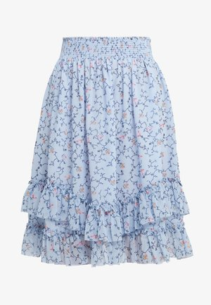 ROMANCE SKIRT - A-line skirt - light blue/multicolor