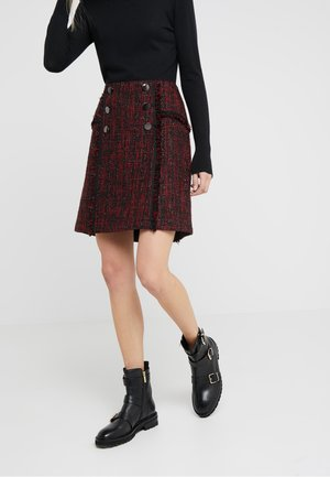 BROOKLYN GLAM SKIRT - A-linjainen hame - red black