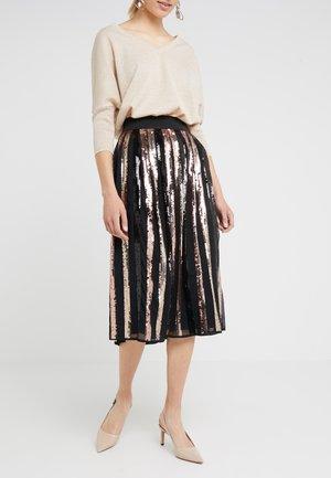 JULIA GLAM SKIRT - A-line skirt - black